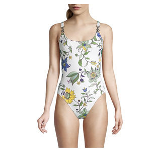 Tory Burch Printed Clip Tank SwimSuit NWT S